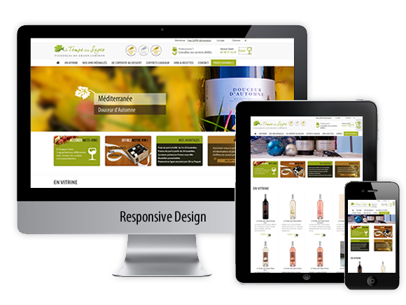 Site responsive design e-commerce le temps des sages