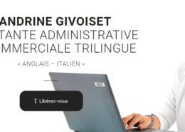 Site internet assistante administrative et commerciale