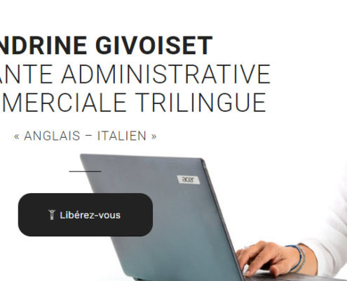 Site internet assistante administrative et commerciale